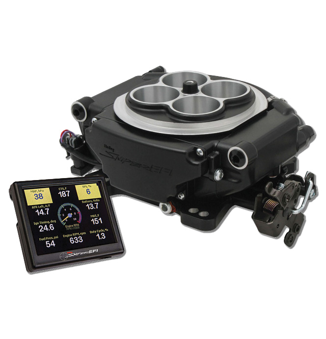 Holley Sniper EFI Self-Tuning Kit - Black Finish