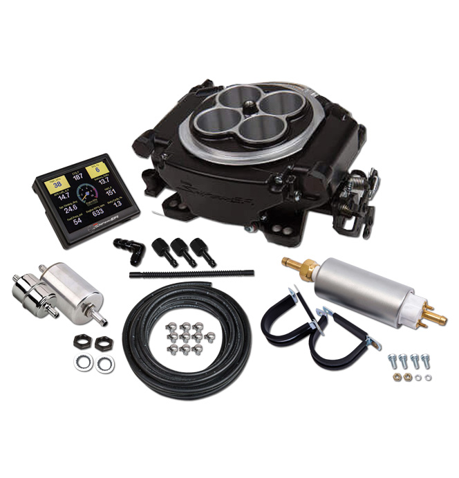 Holley Sniper EFI Self-Tuning Master Kit - Black Finish