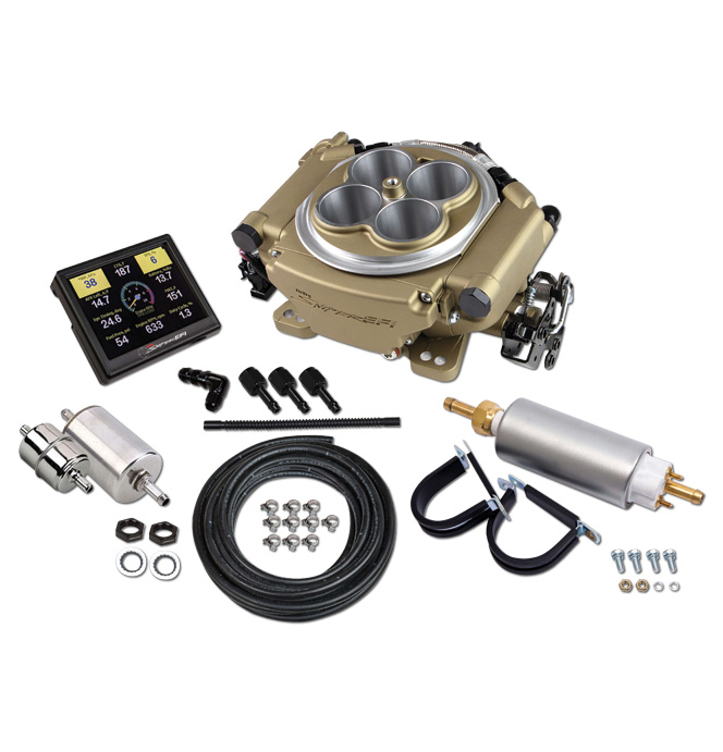 Holley Sniper EFI Self-Tuning Master Kit - Gold Finish
