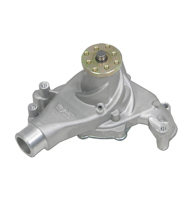 (1969-76)  Weiand Action +Plus Water Pump - SBC - Long - Satin