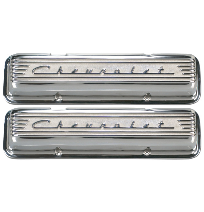 (1947-85) Chevrolet Valve Covers-Small Block-Polished