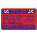 (1947-54)  Air Cleaner Decal-Oil Bath Type