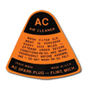 (1947-59)  Air Cleaner Decal-Dry Element