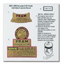 (1941-59)  Oil Filter Decal - Fram Type