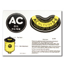(1936-53)  Oil Filter Decal - A/C Type