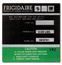 (1974-76)  A/C Compressor Decal-Frigidaire