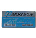 (1963-66)  Harrison A/C Box Decal