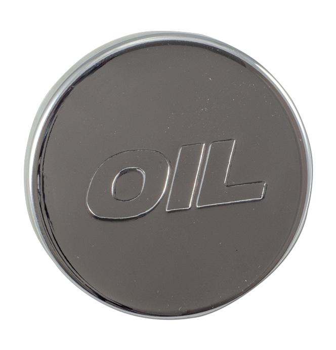 (1967-93)  Oil Filler Cap-Chrome-Rubber, Push In