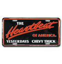 (1947-98)  License Plate-Heartbeat Of America Yesterdays Chevy Truck
