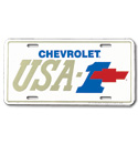 (1947-98)  License Plate-USA-1 w/ Bowtie