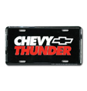 (1947-98)  License Plate-Chevy Thunder