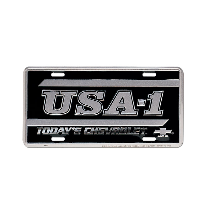 (1934-98)  License Plate-USA-1 W/Lines