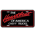 (1947-98)  License Plate-Heartbeat-Chevy Trucks