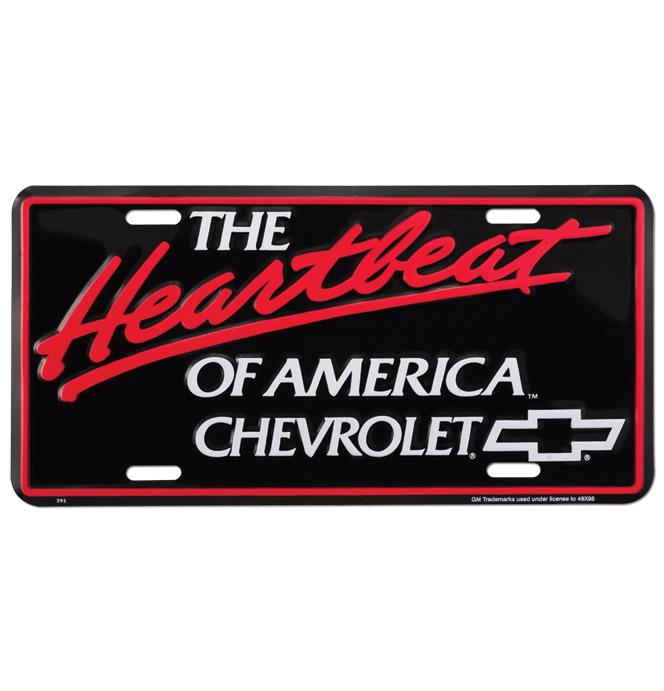 (1934-98)  License Plate-Heatbeat of America