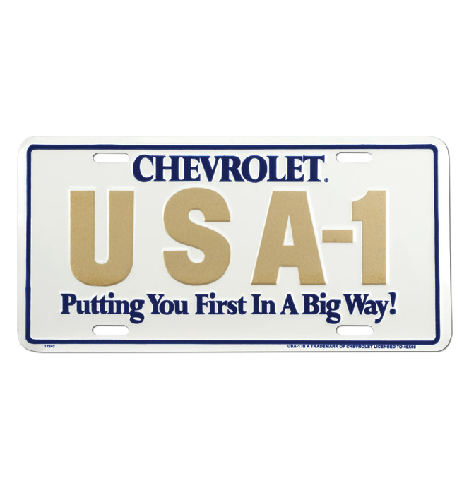(1947-98)  License Plate-USA-1-First