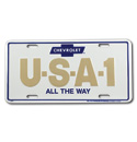 (1947-98)  License Plate-USA-1-All The Way