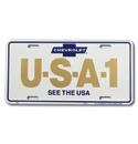 (1947-98)  License Plate-USA-1-See The USA