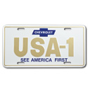 (1947-98)  License Plate-USA-1-See America First