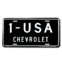 (1947-98)  License Plate - 1-USA - Chevrolet