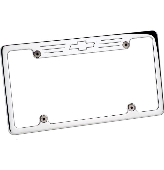 (1947-98) Billet License Frame - Bowtie