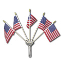 Chrome Flag Holder - 5 Flag