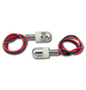 License Plate Fastener w/ LED - Pair
