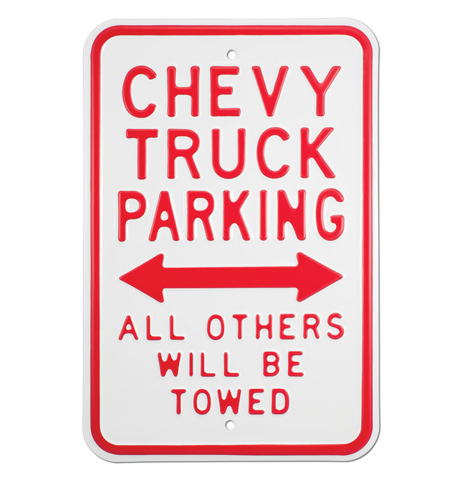 Street Sign-Chevy Truck Parking Only