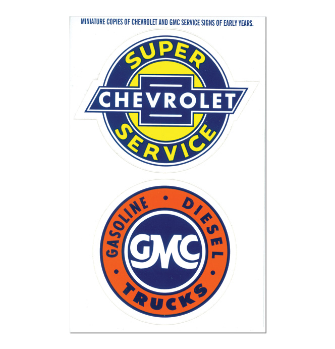 Original Miniature Service Decals - Chevrolet & GMC