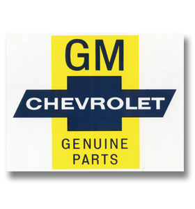 (1941-87)  Genuine GM Parts Decal
