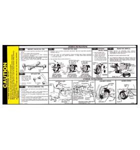 (1985-86)  Jack Instruction Decal