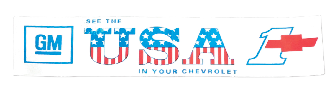 Bumper Sticker - See The USA In Your Chevrolet!