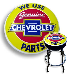 Shop Stool - We Use Genuine Chevrolet Parts