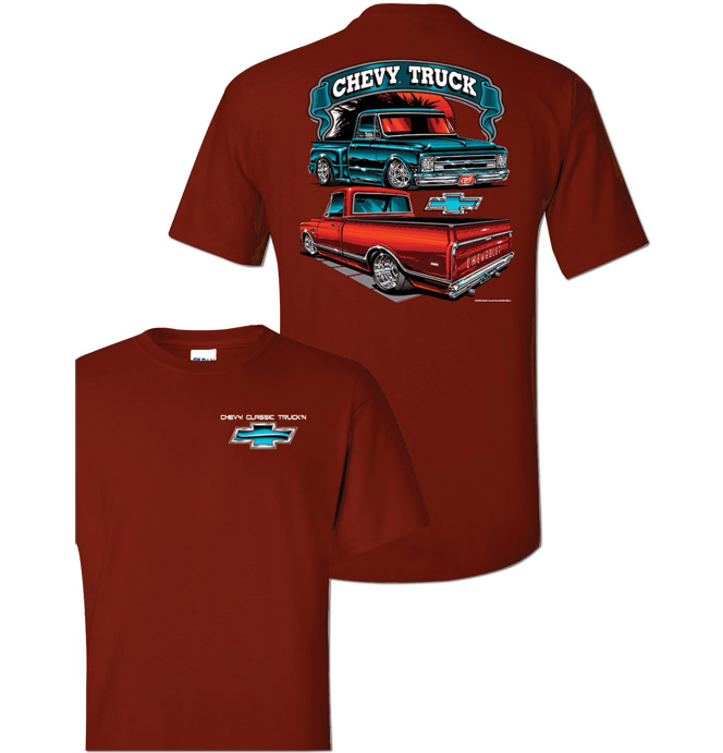T-Shirt Chevy Classic Truck - Maroon