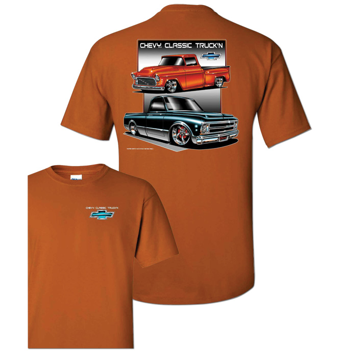 T-Shirt - Classic Truckin - Orange