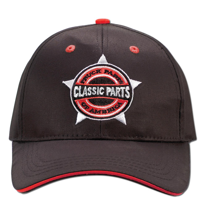 Hat - Classic Parts - Embroidered - Black/Red