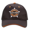 Hat - Classic Parts - Embroidered - Black/Orange