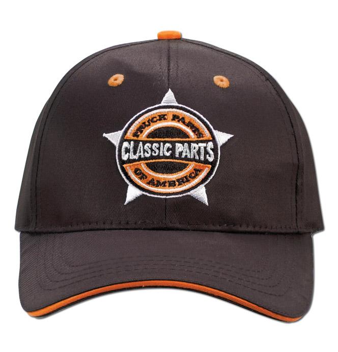 Hat - Classic Parts - Embroidered - Black/Orange