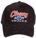 Hat-Chevy Trucks-Black/Black