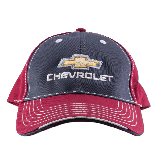 Chevy Bowtie Cap-Red Charcoal