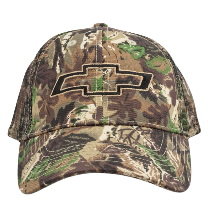 Chevy Bowtie Camo Hat Mesh Classic Chevy Truck Parts
