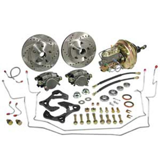 1967-74) Complete Stock Spindle Disc Brake Kit - Front