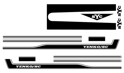 Yenko Stripe Kit Black Classic Chevy Truck Parts