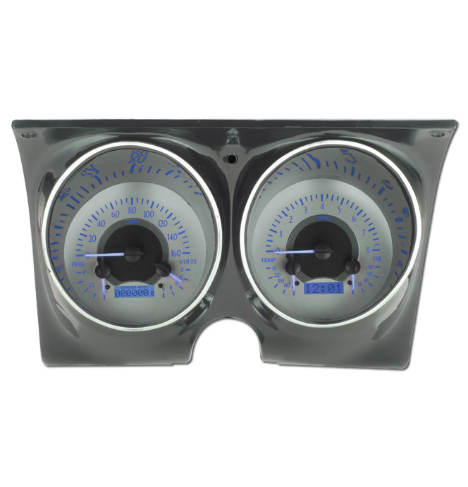 (1967-68) VHX Gauge Assembly - Silver Alloy - Blue Display ...