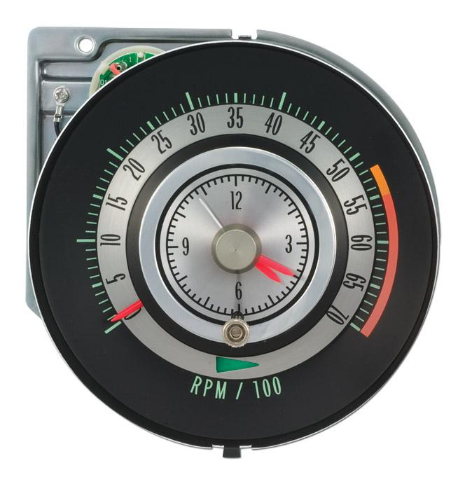 tic toc tachometer w 5500 rpm redline classic chevy truck parts
