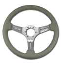 (1941-94)  Steering Wheel-Gray Leather-Chrome