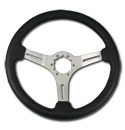(1941-94)  Steering Wheel-Black Leather-Brushed