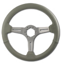 (1941-94)  Steering Wheel-Gray Leather-Brushed