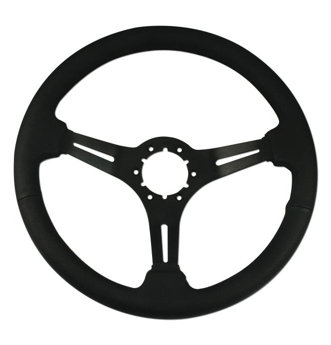 (1941-94)  Steering Wheel-Black Leather-Black Matte