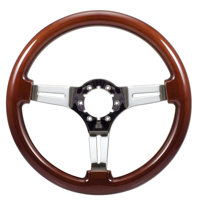 (1941-94)  Steering Wheel-Wood-Chrome