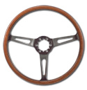 (1941-94)  Steering Wheel-Wood-Polished Light